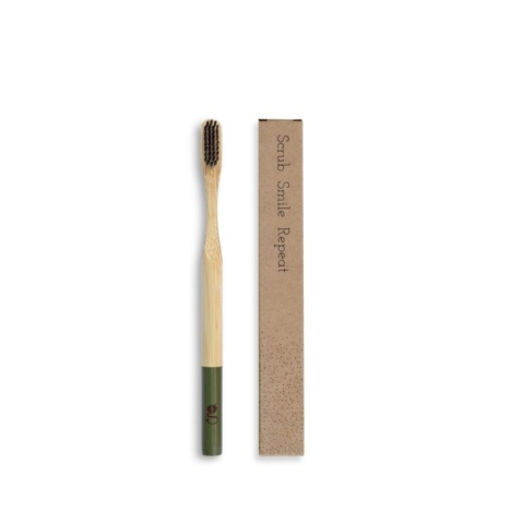 Grums-bamboo-toothbrush-olive